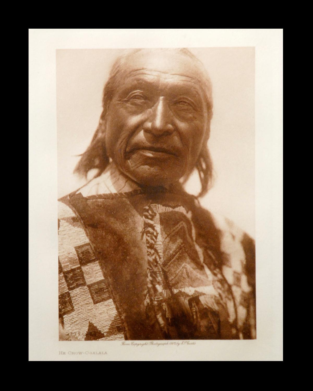 """""""He Crow - Ogalala"""" Vol.13 1907 Van Gelder Print, Vintage Photogravure"""