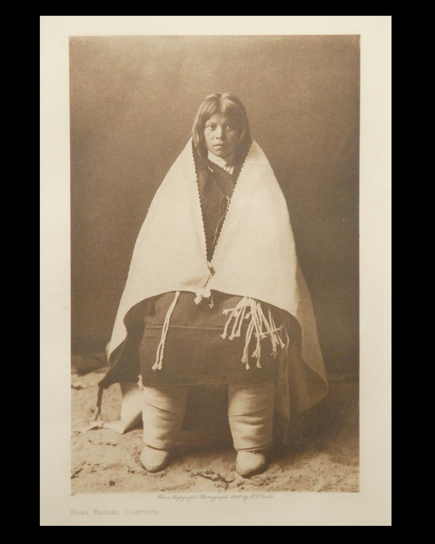 """Hopi Bridal Costume"" 1900 Vol.12 Van Gelder Print, Vintage Photogravure"