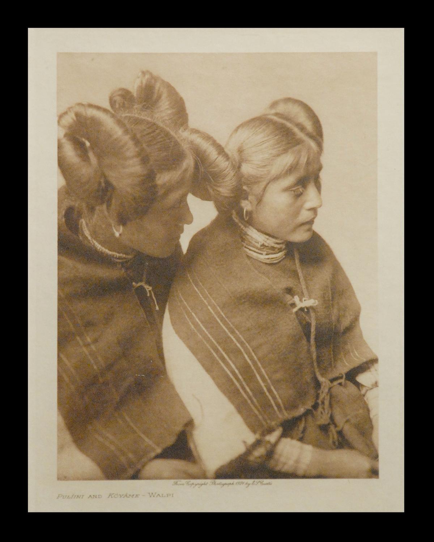 """Pulfini and Koyame - Walpi"" 1924 Vol.12 Vellum Print, Vintage Photogravure"