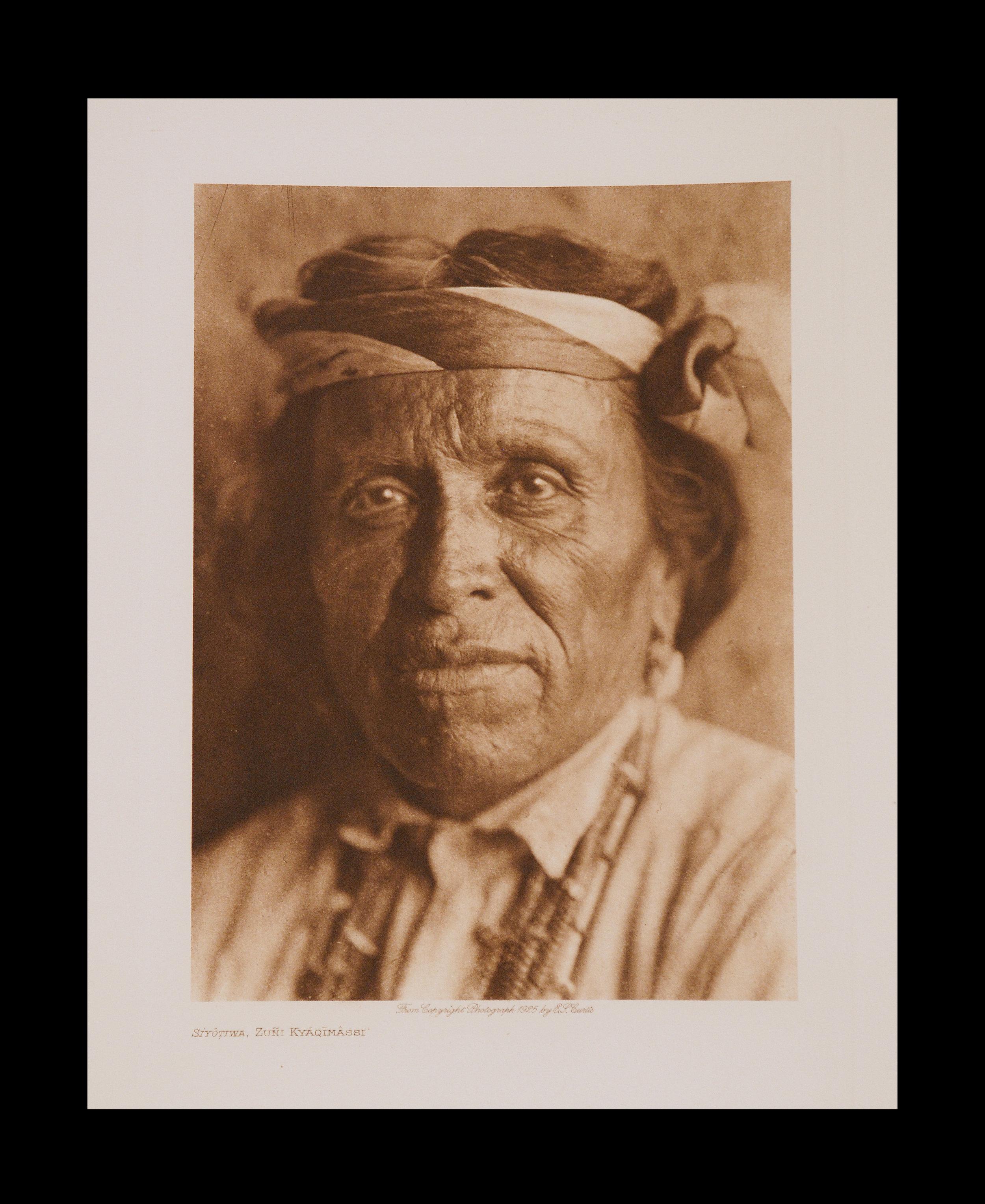 """Siyotiwa, Zuni Kyaqimassi"" 1925 Vol.17 Van Gelder Print Vintage Photogravure"