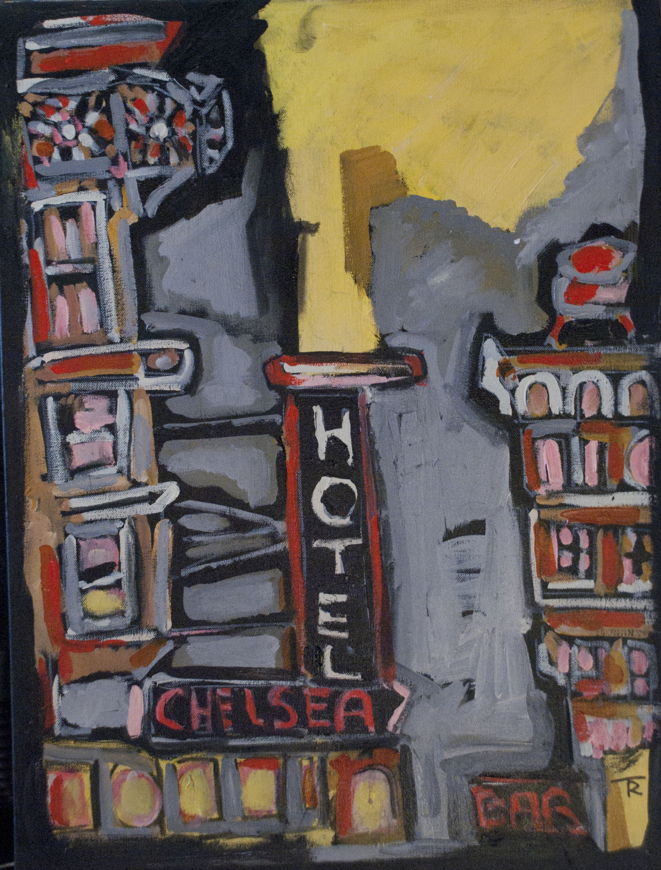 """Chelsea"" From the Record ""Folk Hotel""  24x18  $1200"