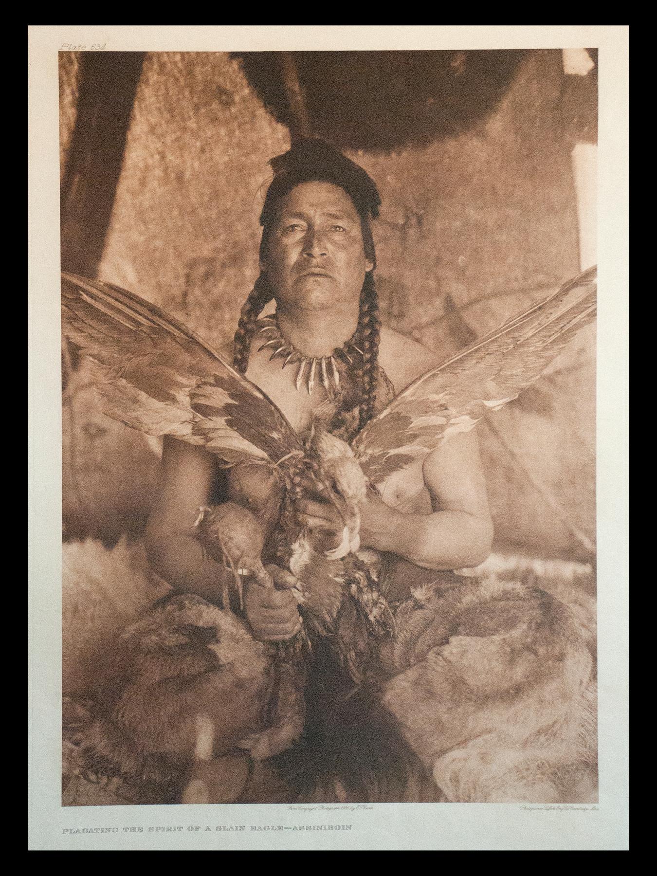 "Plate #634 ""Plagating the Spirit of a Slain Eagle - Assiniboin"" 1926 Portfolio 18"