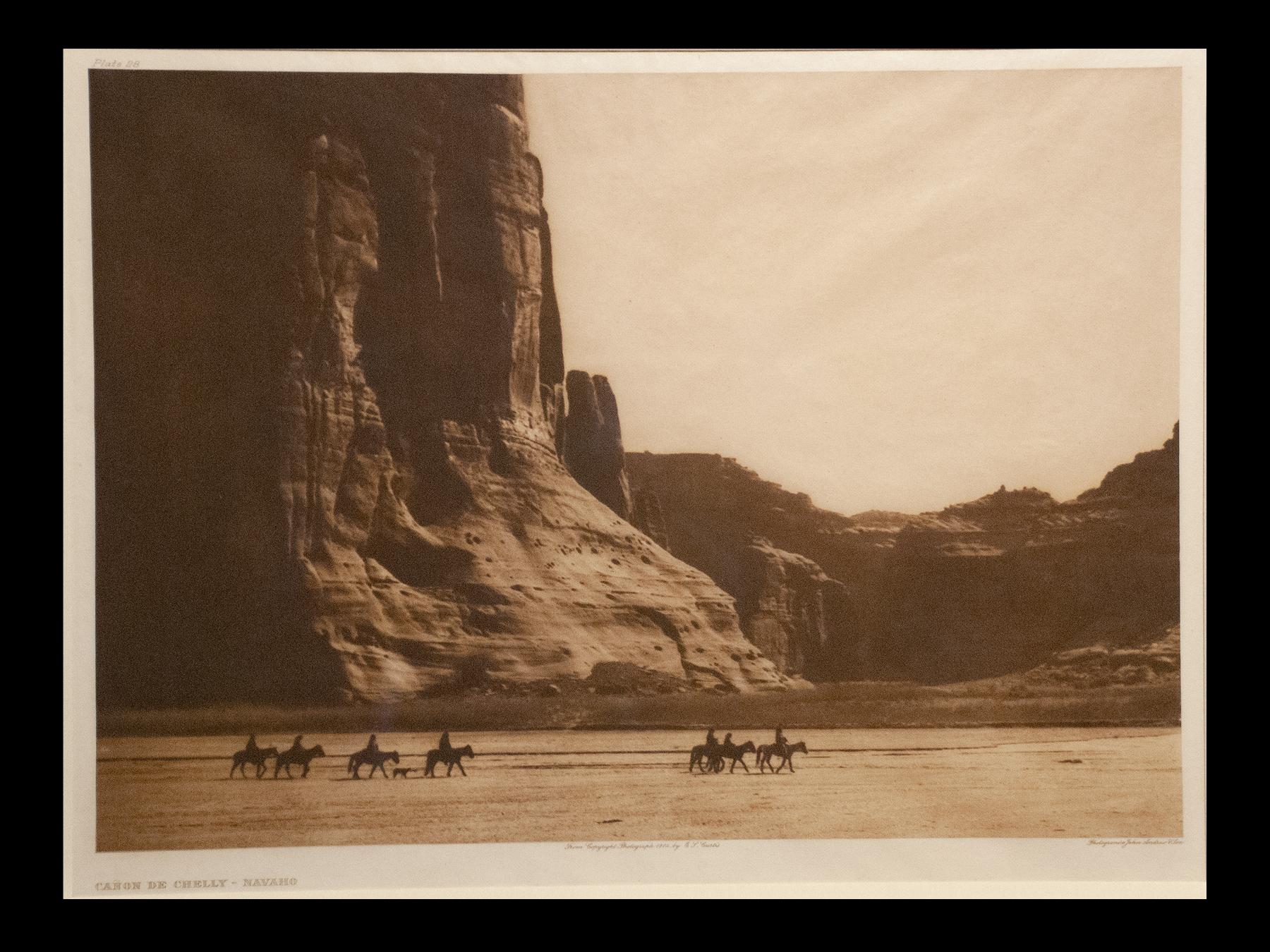 """Plate #28 """"Canon de Chelly - Navajo"""" Portfolio 1"""
