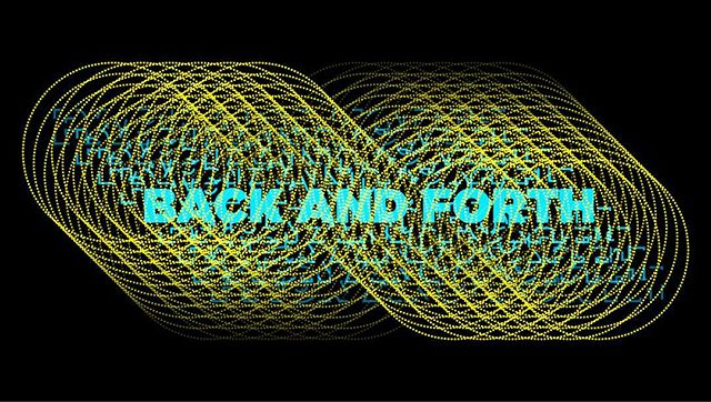 back and forth  #graphicdesign #typography #yellow #cyan #adobeillustrator #design #hoshtag