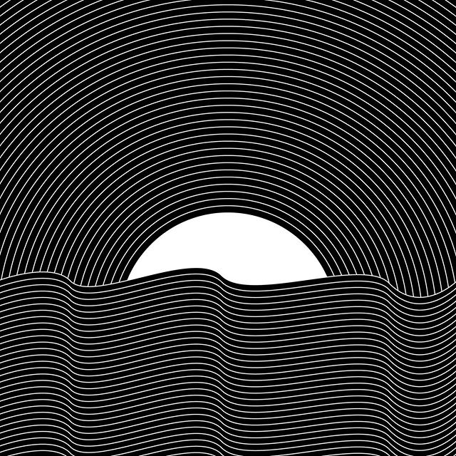 Horizon variations 1, 2, 3, or 4  #horizon #sunset #sunrise #nature #ocean #sun #illustrator #adobe #adobeillustrator #digitalart #achromatic #blackandwhite #waves #hoshtag