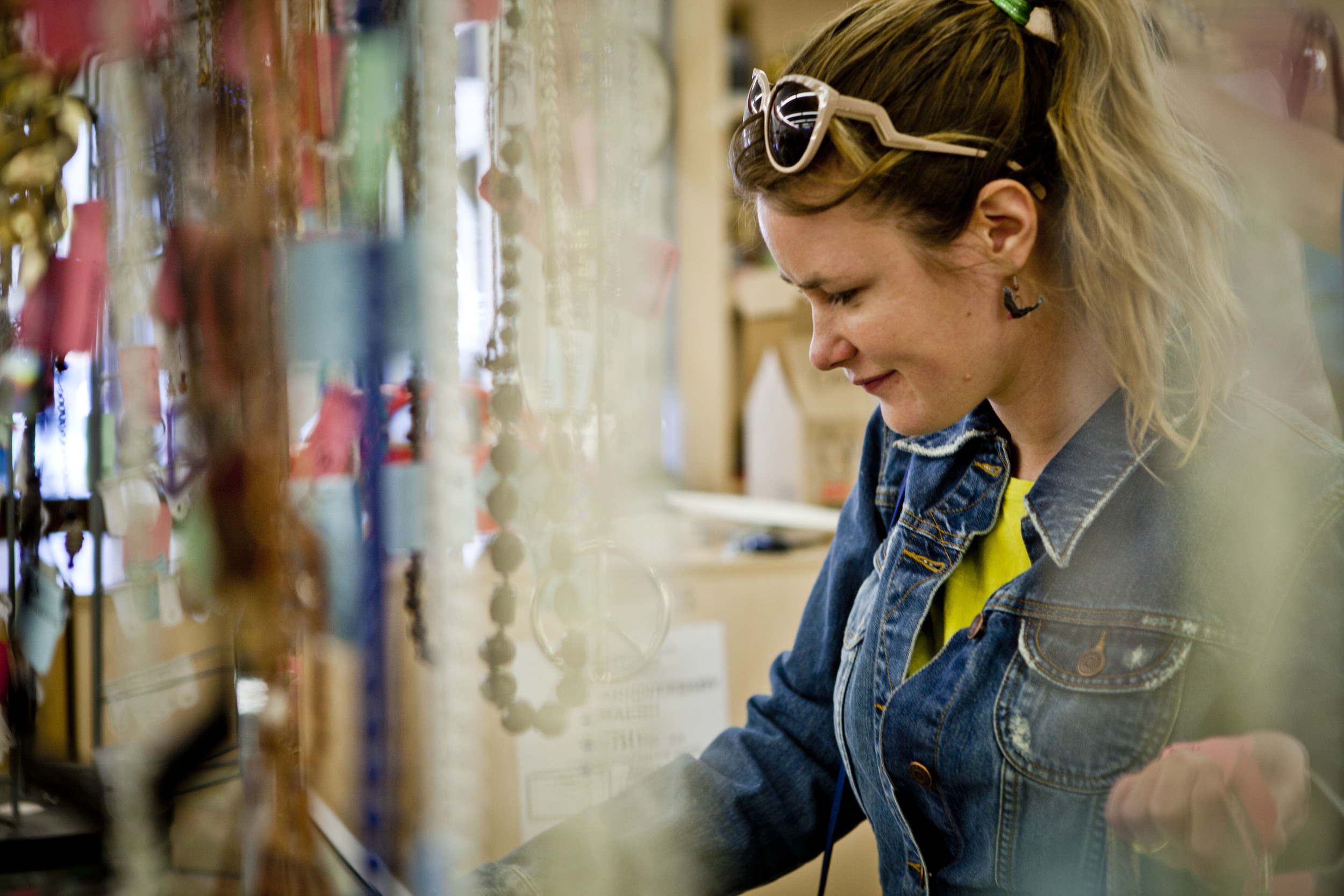 Co-owner Haley Harned in search of one-of-a-kind vintage jewels   by  Amanda Mustard , 2013