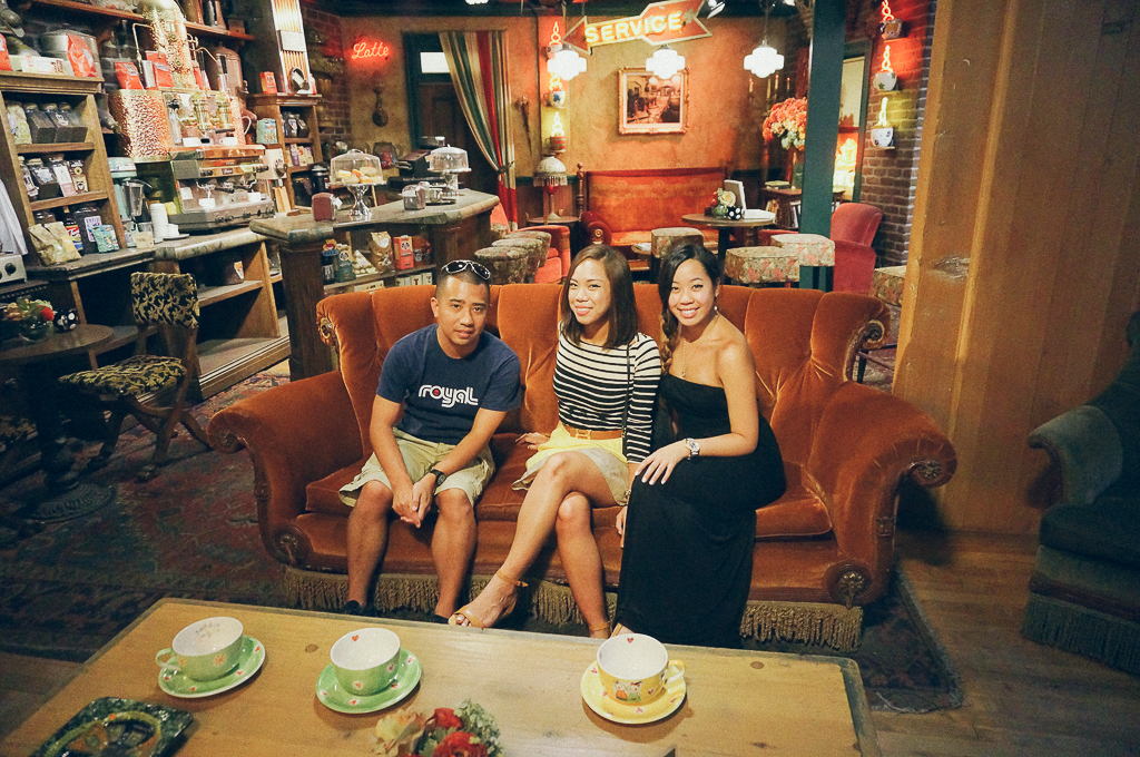 The actual Friends/Central Perk set.