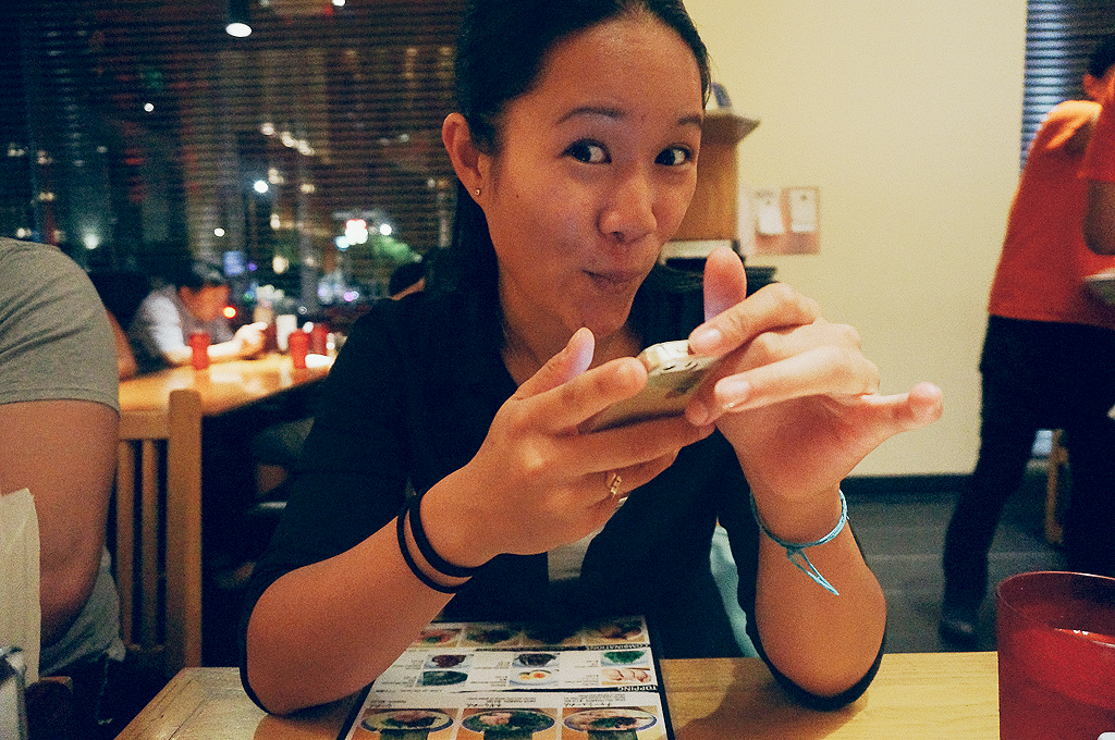 My bestie/Pincess visiting me/living with me for a week during her business trip - at Tsujita Noodle in Sawtelle.