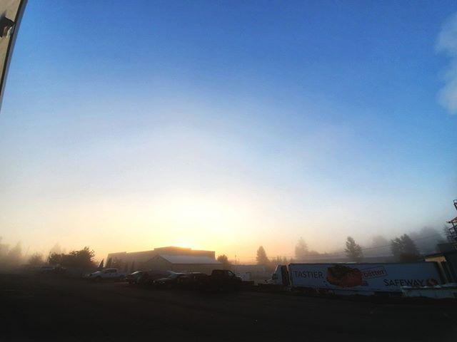 Summer may be gone but, we're still enjoying some morning sunshine. Weather report says clear all day, and through Friday! ... #LockPromo #PNW #Fall #Foggy #Sunshine #Morning #Chilly #Sunshine #WinterIsComing