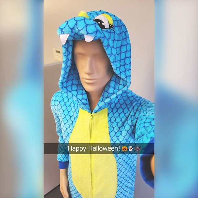 Manny may be too old to go Trick-Or-Treating but, you're never too old to be cozy in your dragon onesie for Halloween. Happy Halloween to everyone! Be safe out there and here's hoping you score the full size candy bars! 🎃 ... #LockPromo #Halloween #Dragon #Onesie #NotTooOld #Candy #TrickOrTreat #SmellMyFeet #MannyMannequin #Selfie #Costume