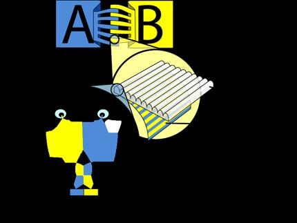 Lenticular info graphic