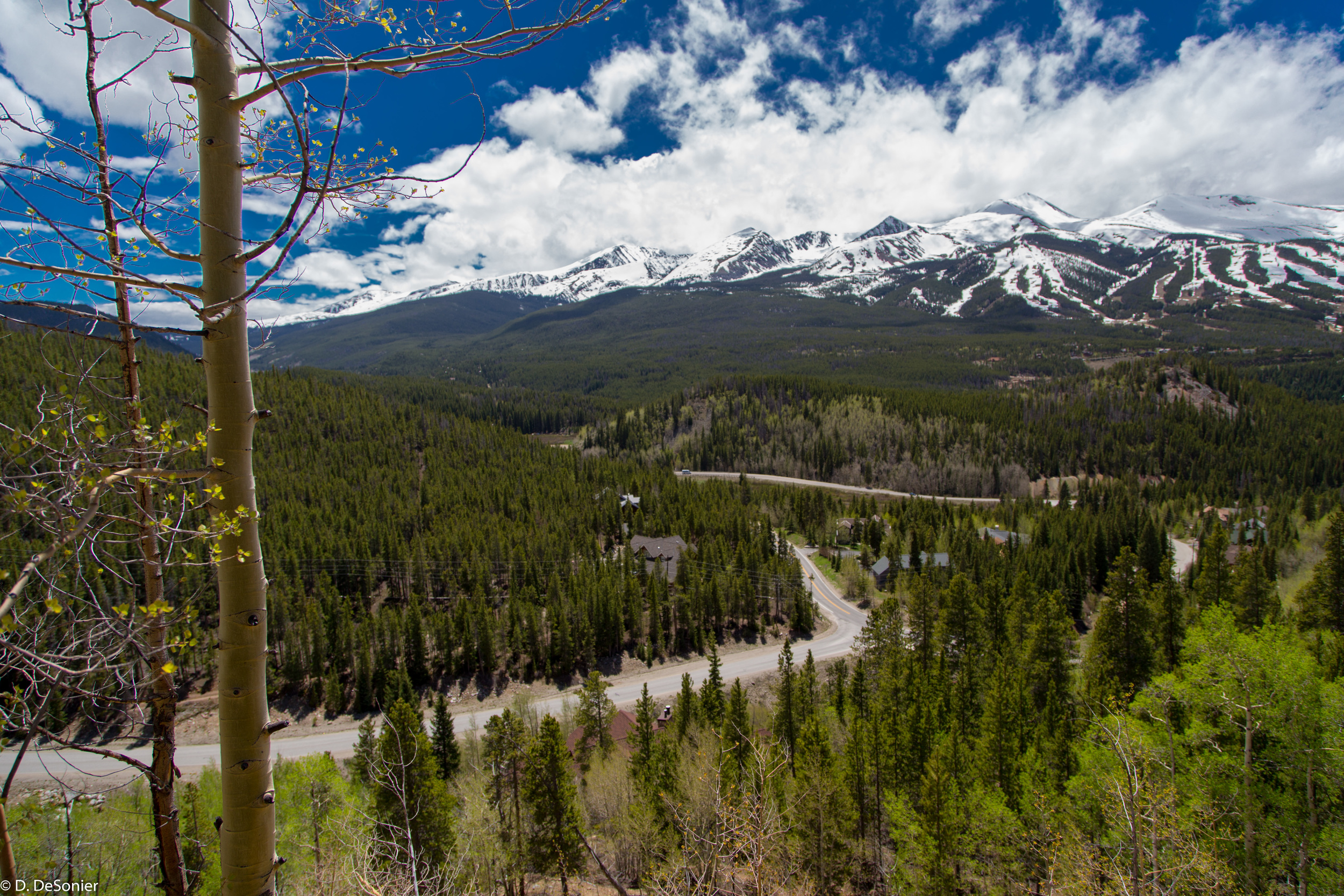 View of Breckenridge ski area.
