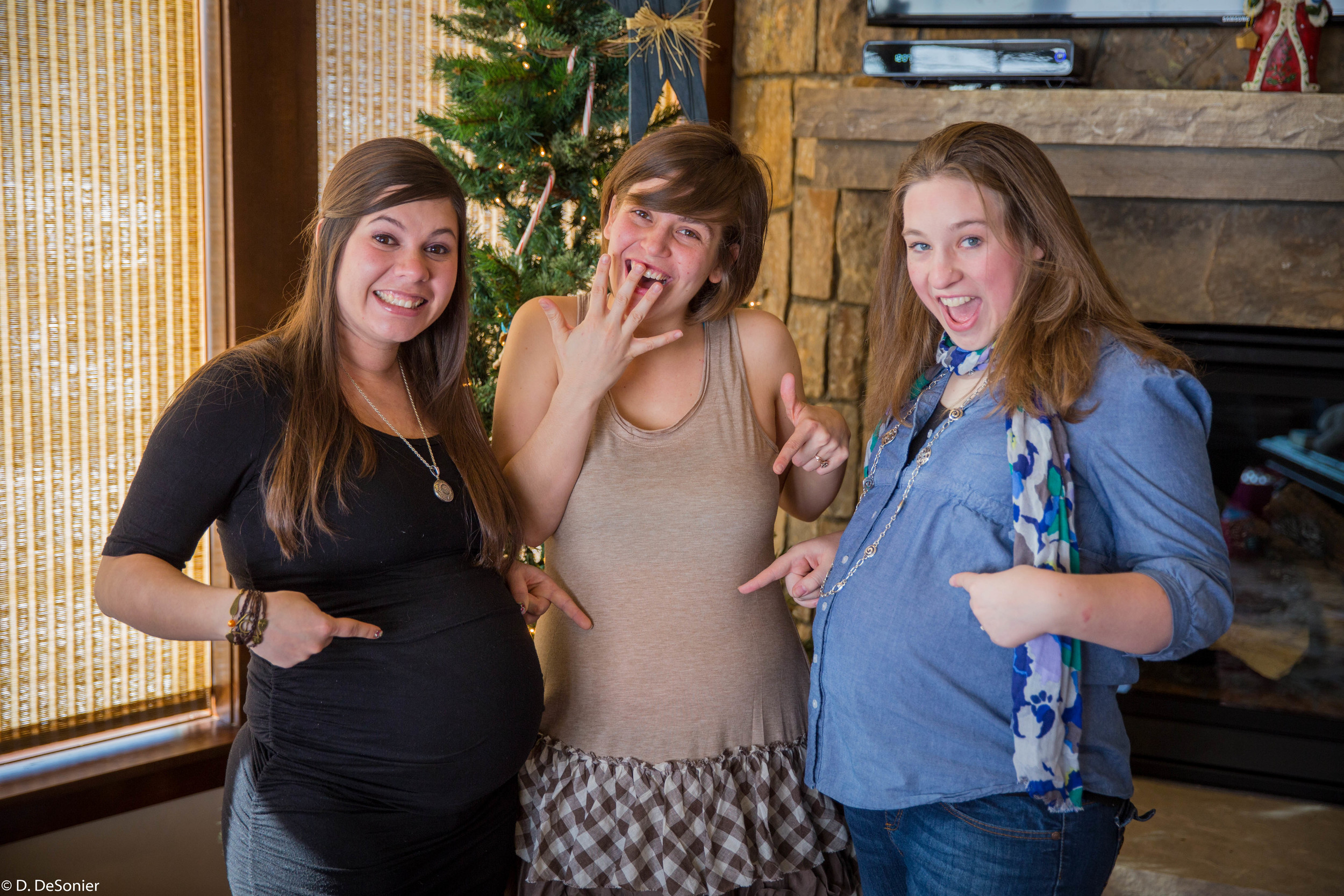 Megan, Sharlotte, Christie -- 3 grandbabies on the way.