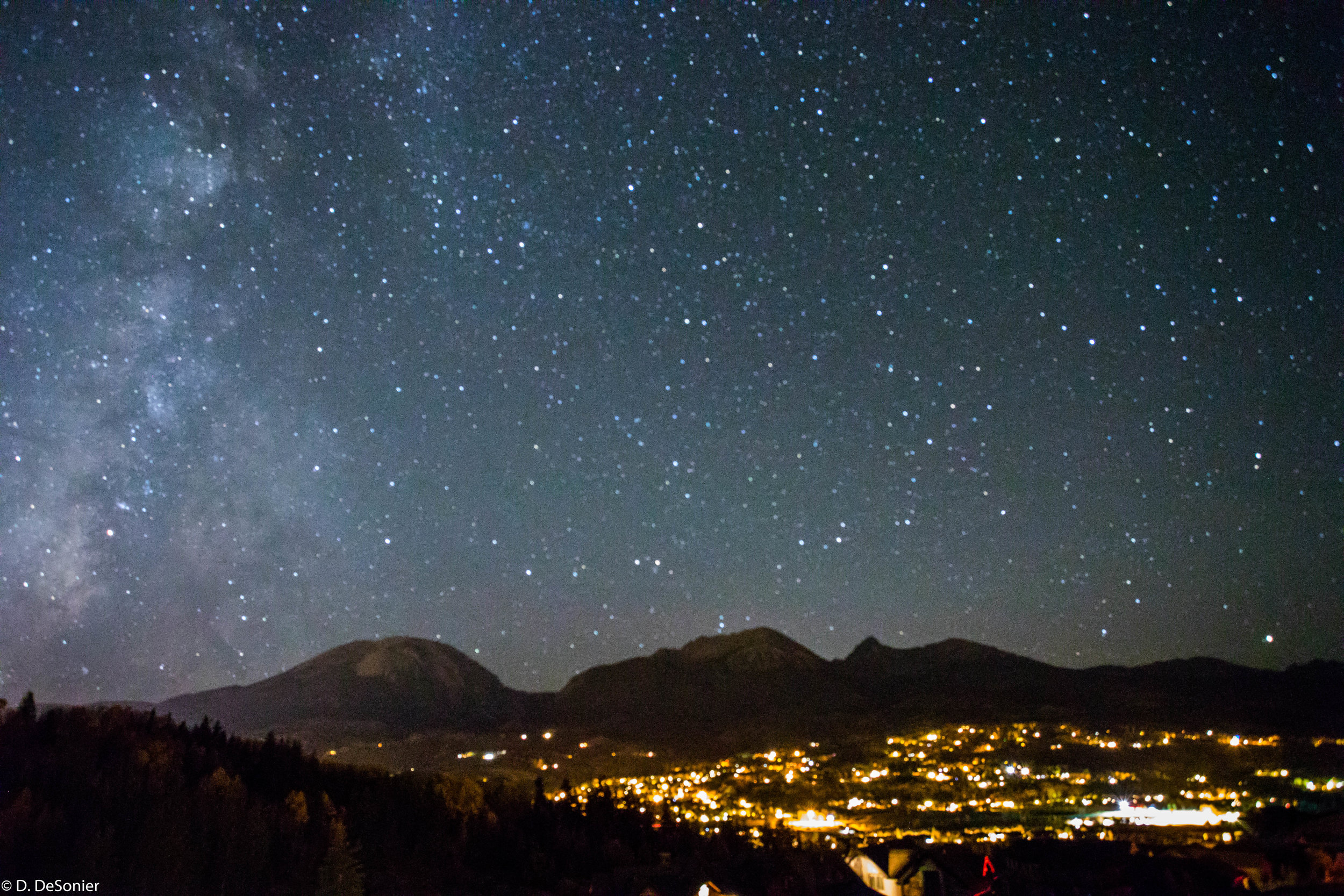 Silverthorne CO, about 9,000 ft elevation, 11pm in late September.