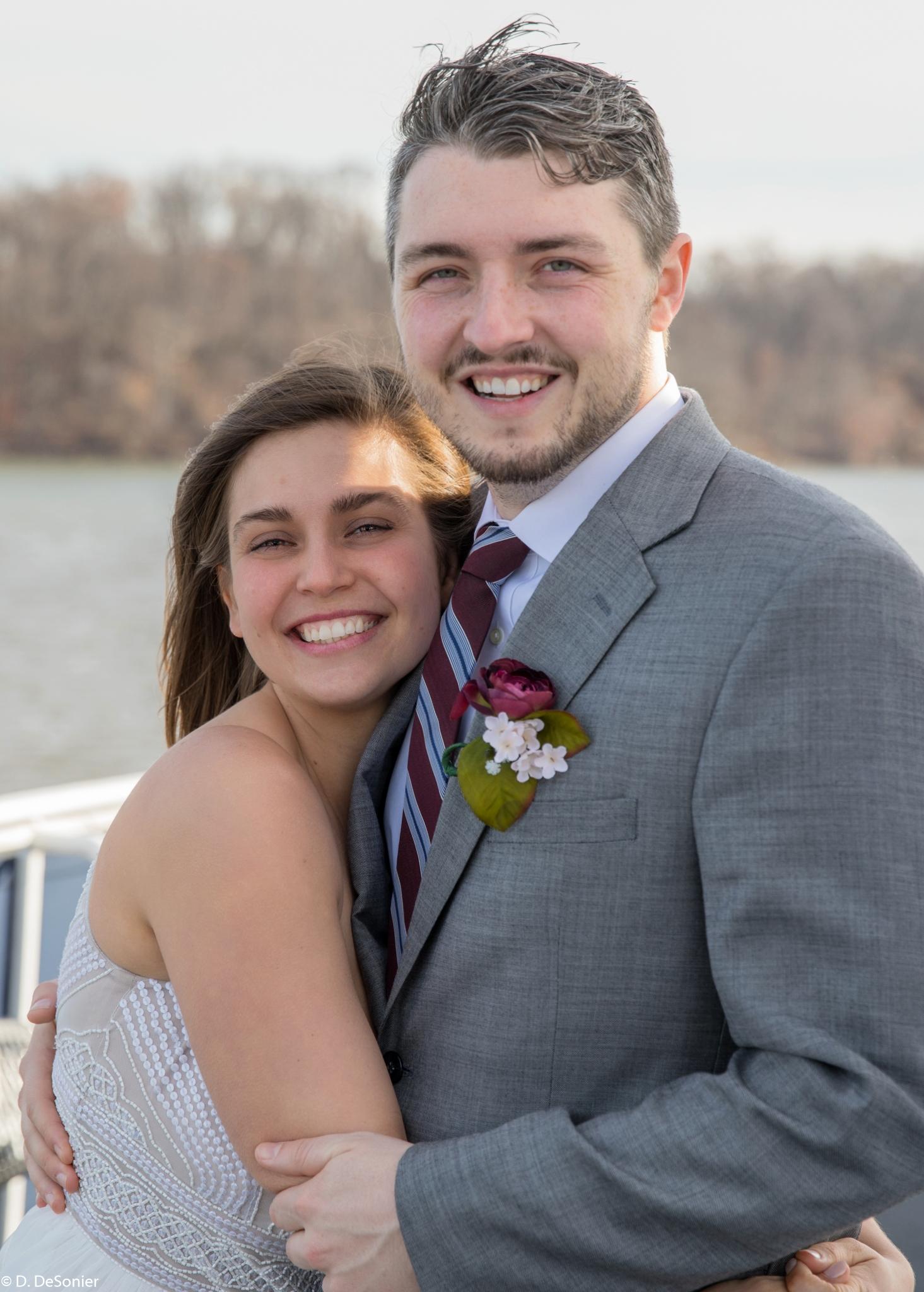 Josh and Sharlotte at their wedding near Washington DC.