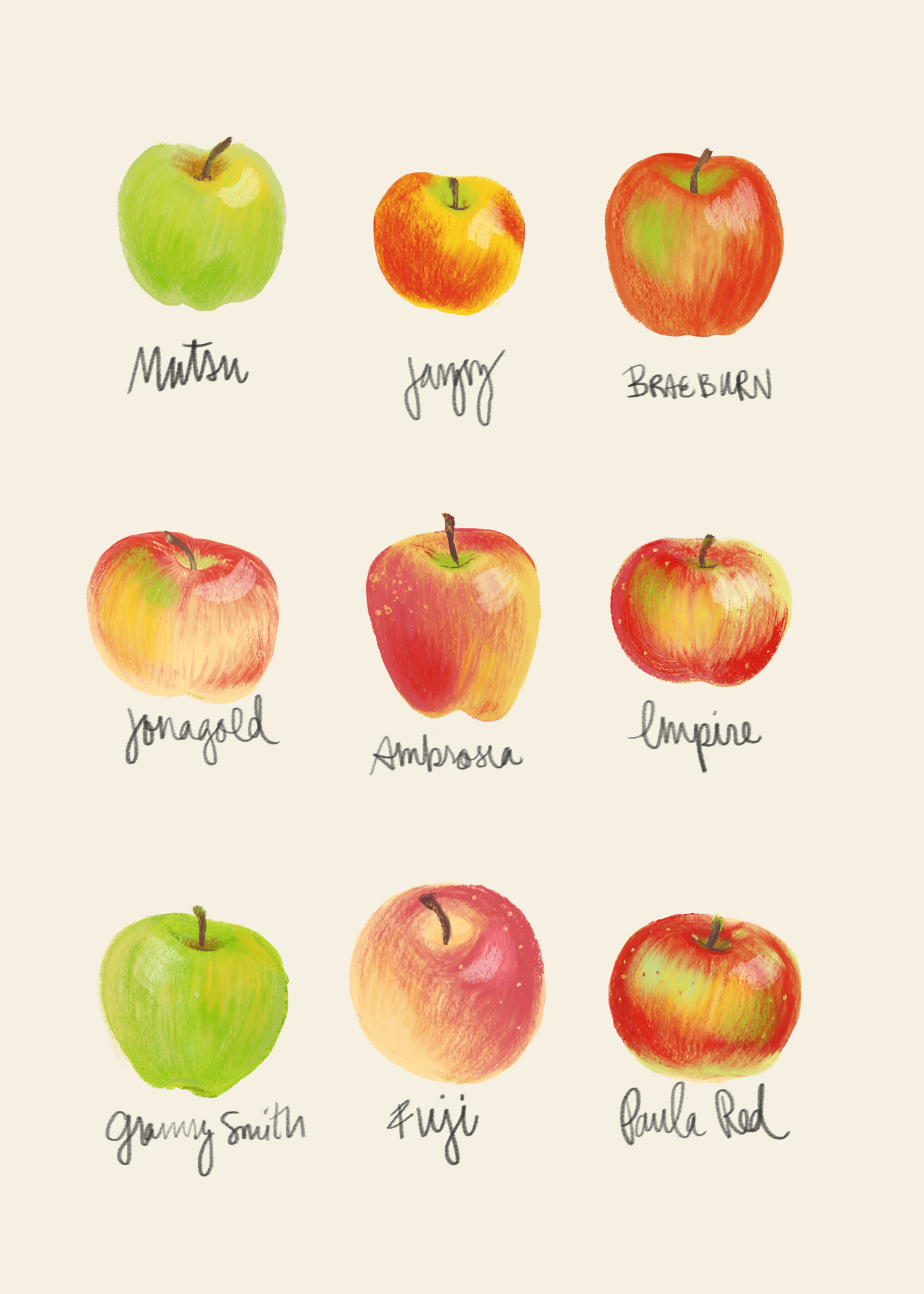 Types of Apples, 2017