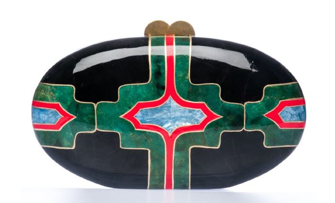 BEATRIZ   BLACK  GREEN OVAL.JPG
