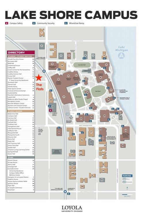 loyola lakeshore campus map Loyola The Flats At Loyola Station loyola lakeshore campus map