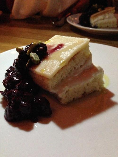 Cassata Siciliana (marzipan, ricotta & pig's brain cream, marsala)