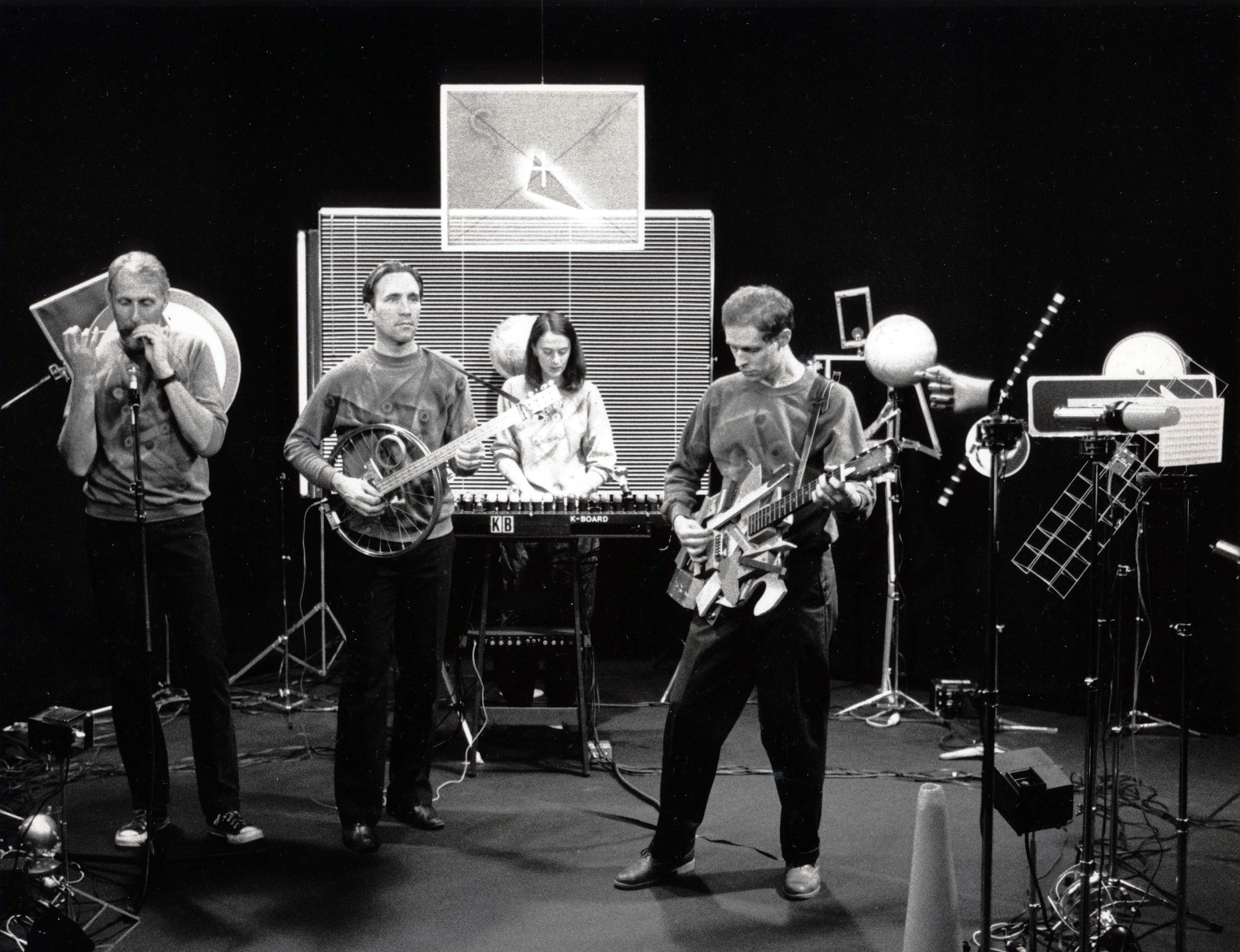 """Hybrid Antics"", Roger's Cable Video, 1983  w. Jerilyn Tabor, Stan Wood, and Steve Koski"