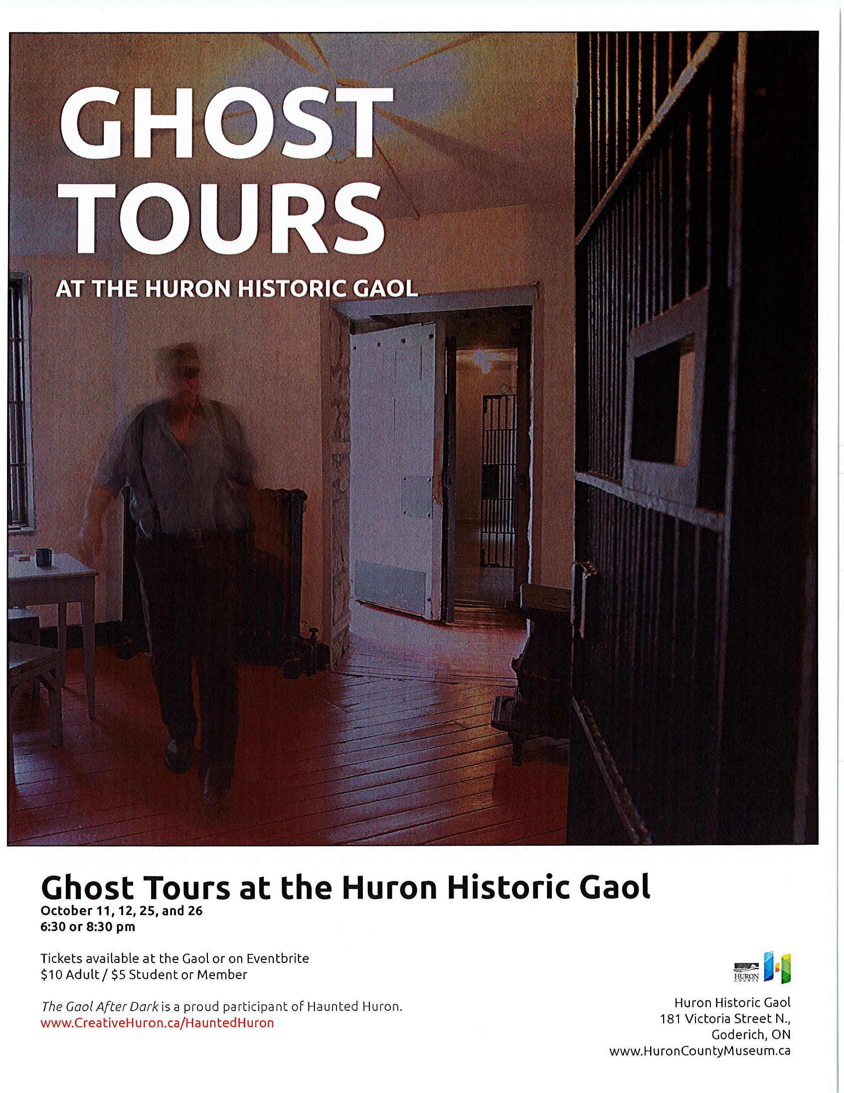 Ghost Tours at the Huron Historic Gaol
