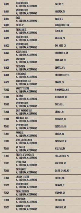 NSN 2016 Tour dates