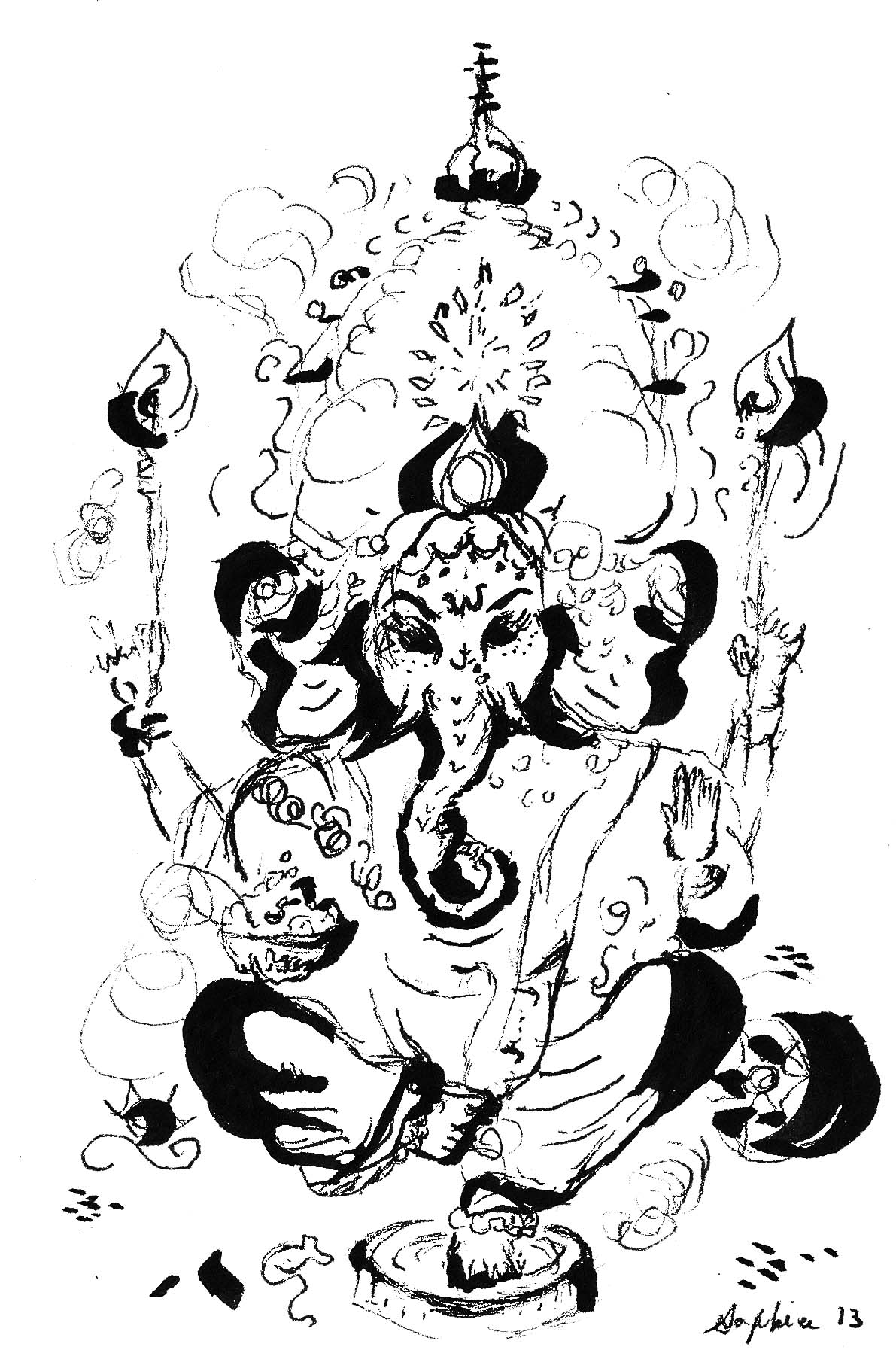 Ganesh in Ink