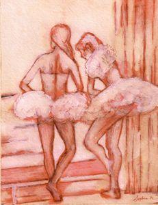 Ballerinas ina window