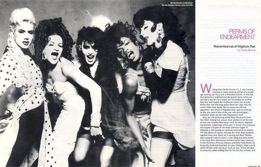 BOY BAR BEAUTIES IN THEIR HEYDAY Miss Guy, Glamamore, Shannon, Connie and Perfidia photo: Sandy Rower
