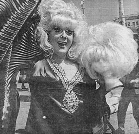 Wigstock founder Lady Bunny began her follicles bergeres in 1985, but didn't charge admission until last year.