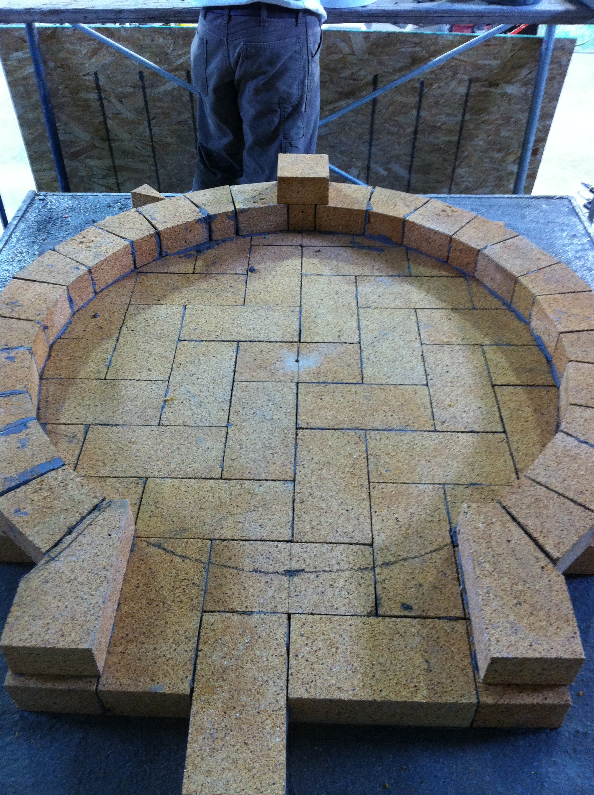 Fire Brick layout for pizza oven.