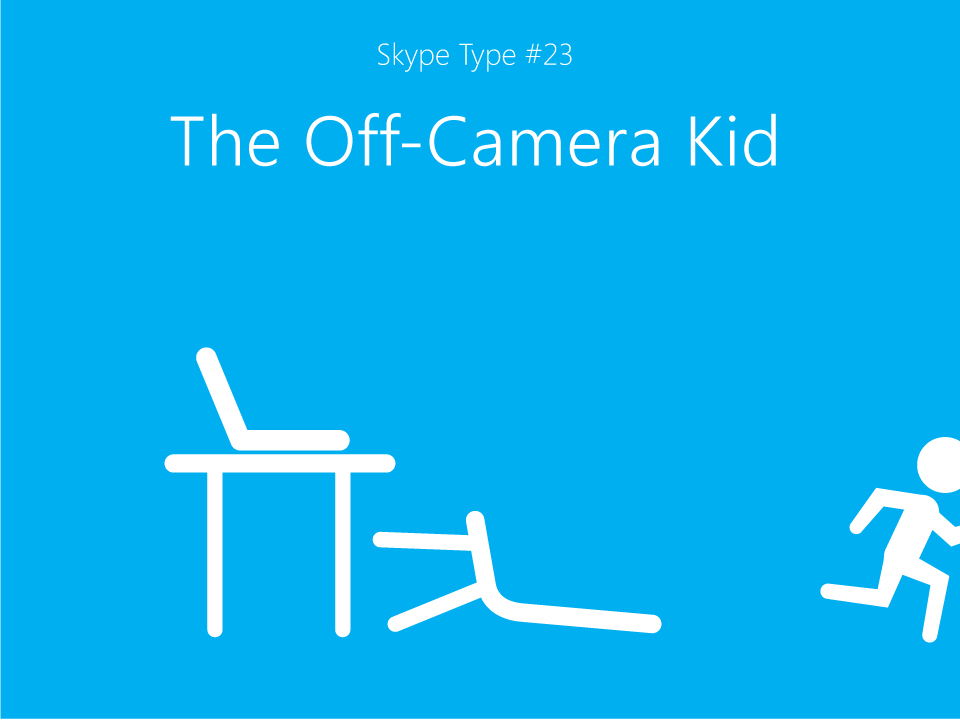 Skype's a great way to stay in touch with your favorite little one, but don't expect them to sit still for long.