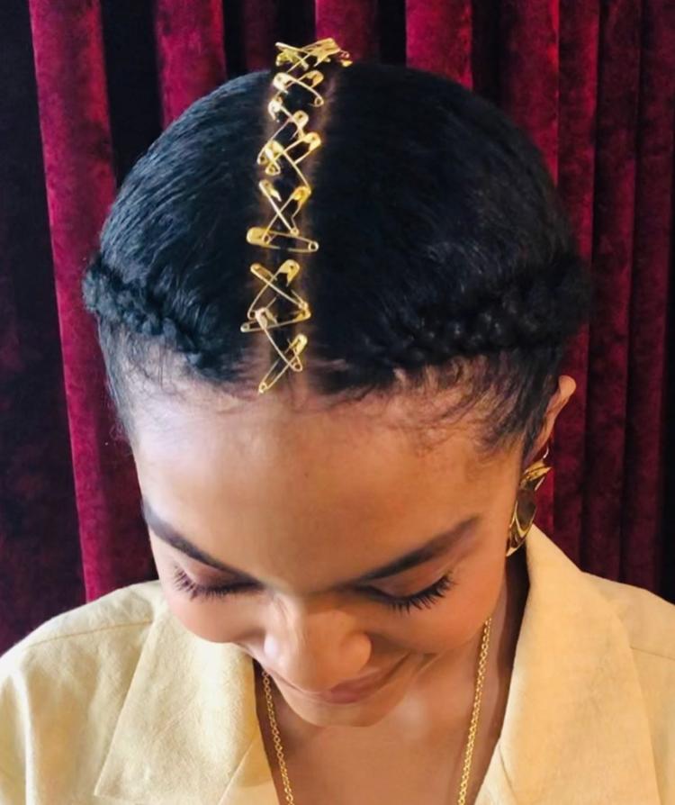 Pins, braids and ponys. -