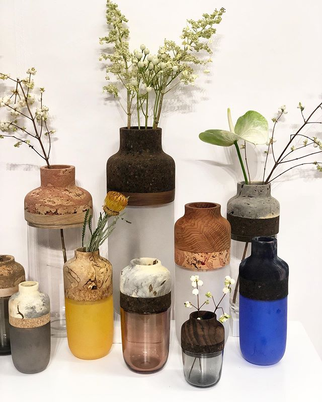 Just love these #vases and all the different #materials involved 💙