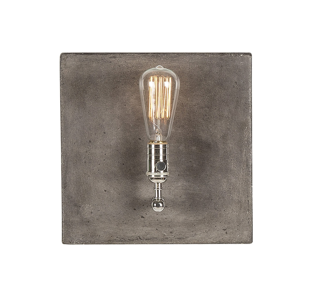 Factory Sconce Single in Polished Nickel