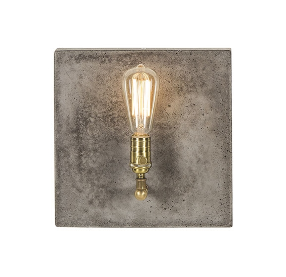 Factory Sconce Single in Aged Brass