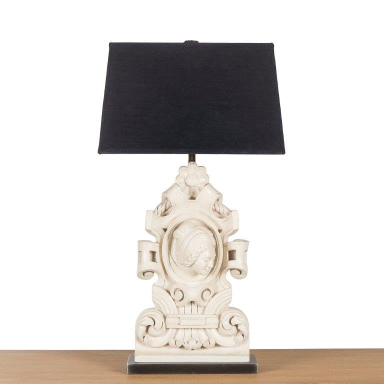 Terra Cotta Queen Lamp -Front.jpg