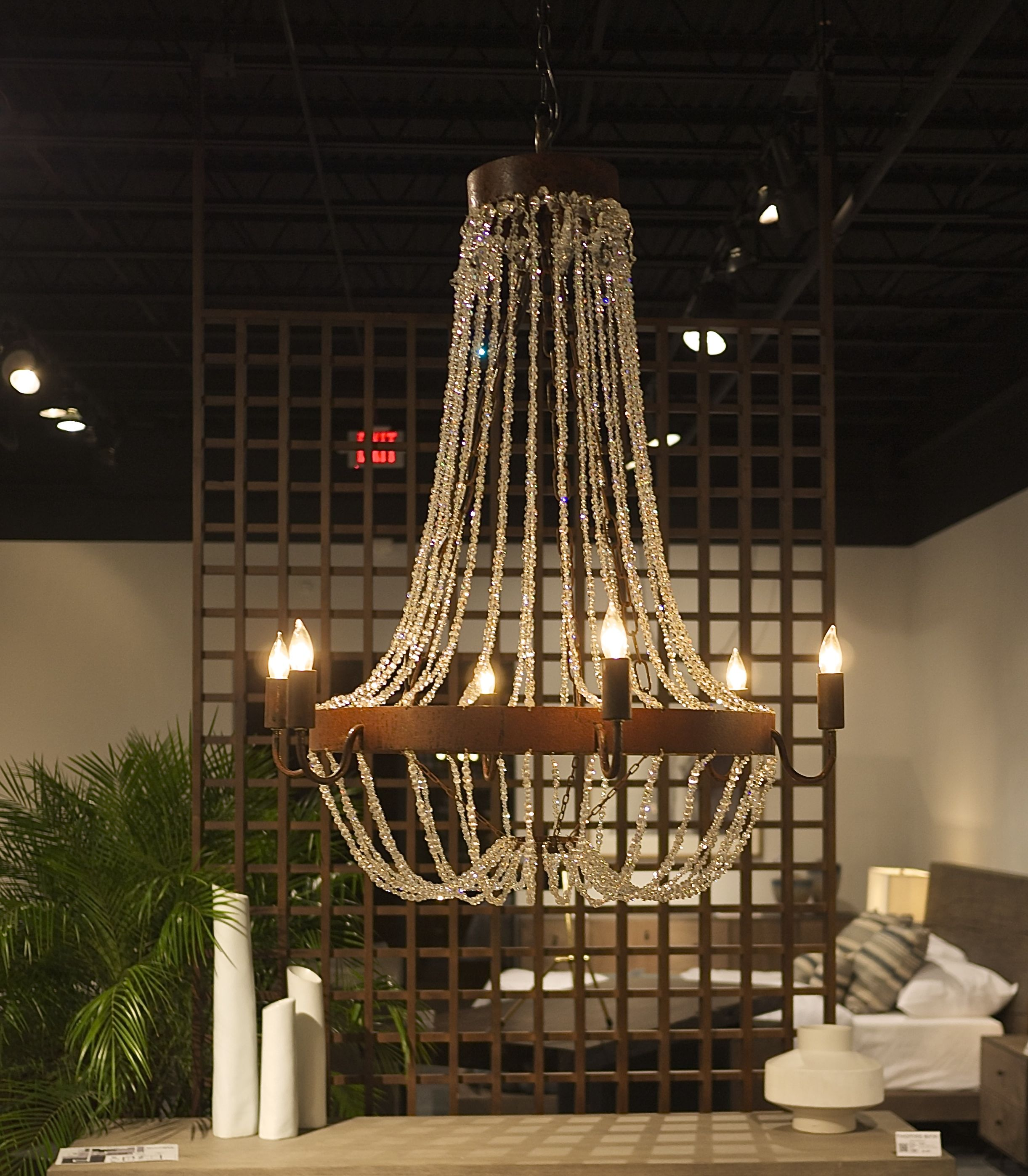 Crystal & Rusted metal chandelier.jpg