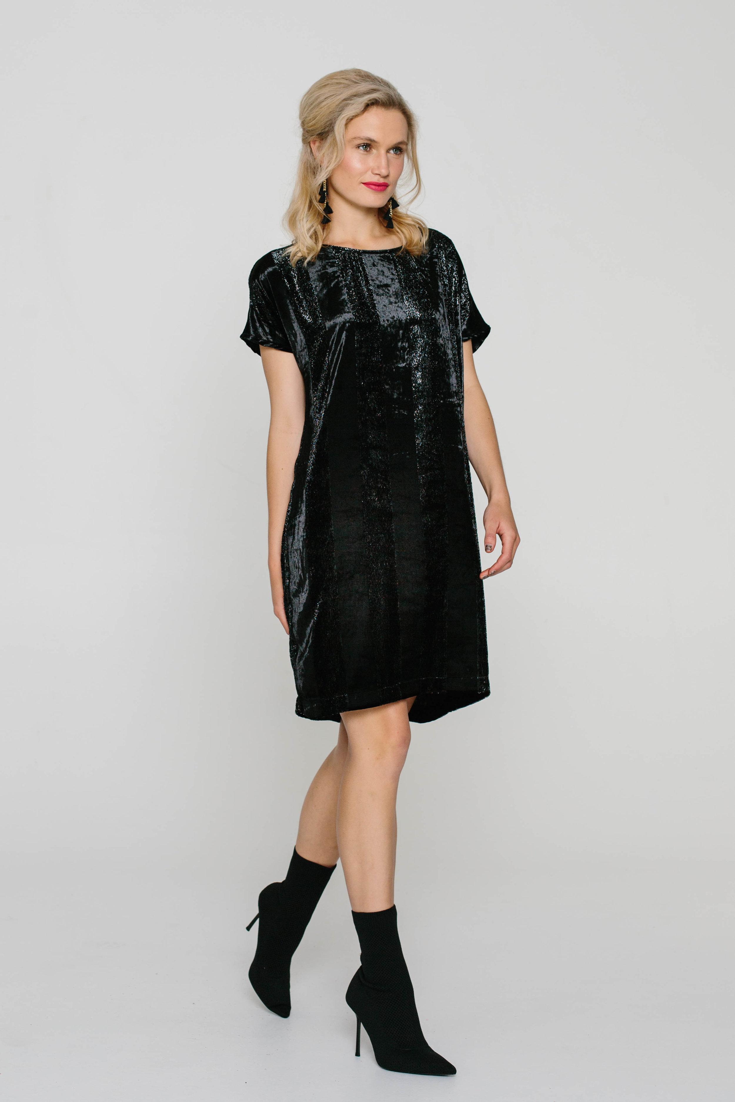 5474WA The Dress Velvet Black