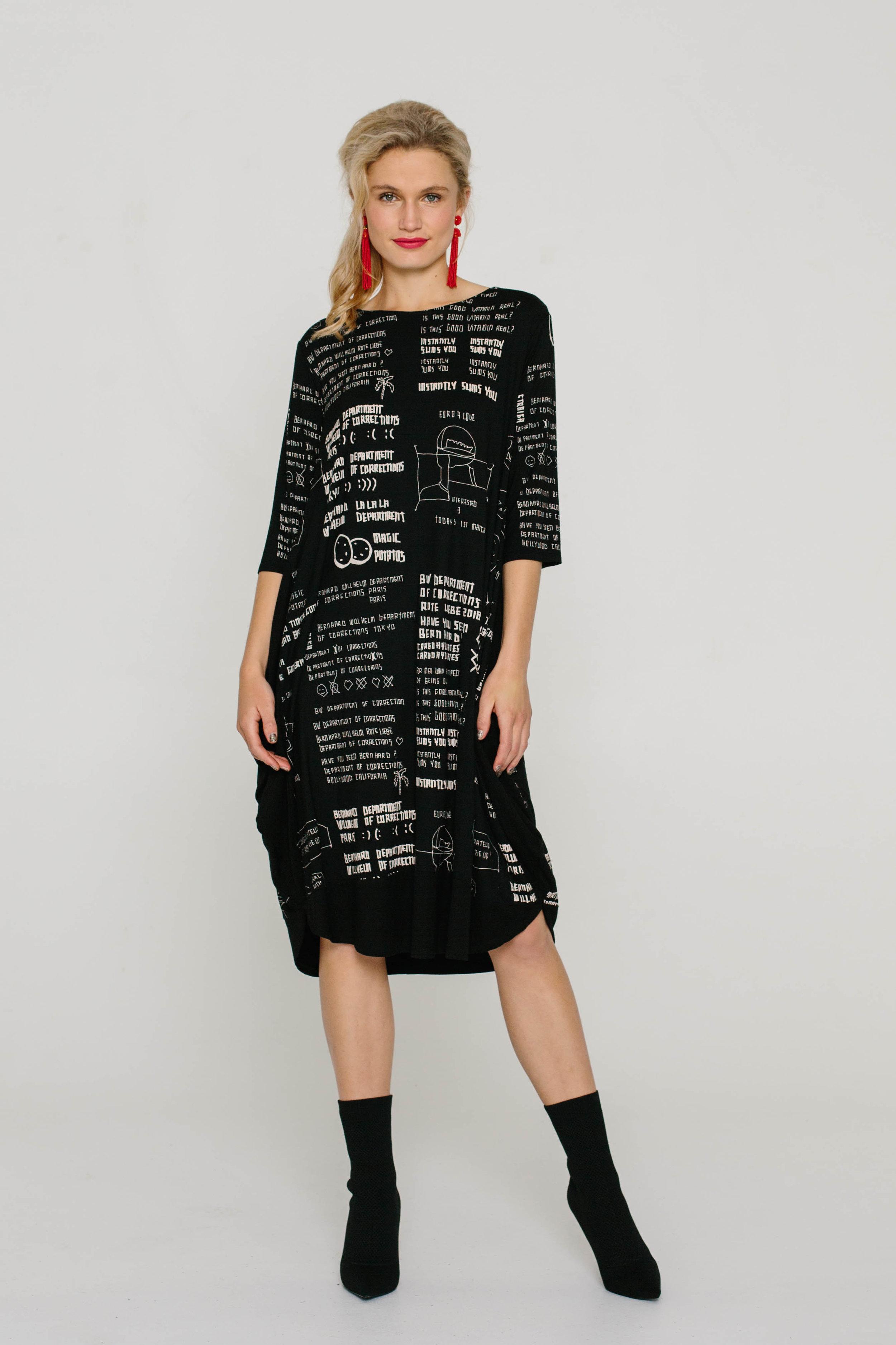 5890W Genie Dress Scribbles