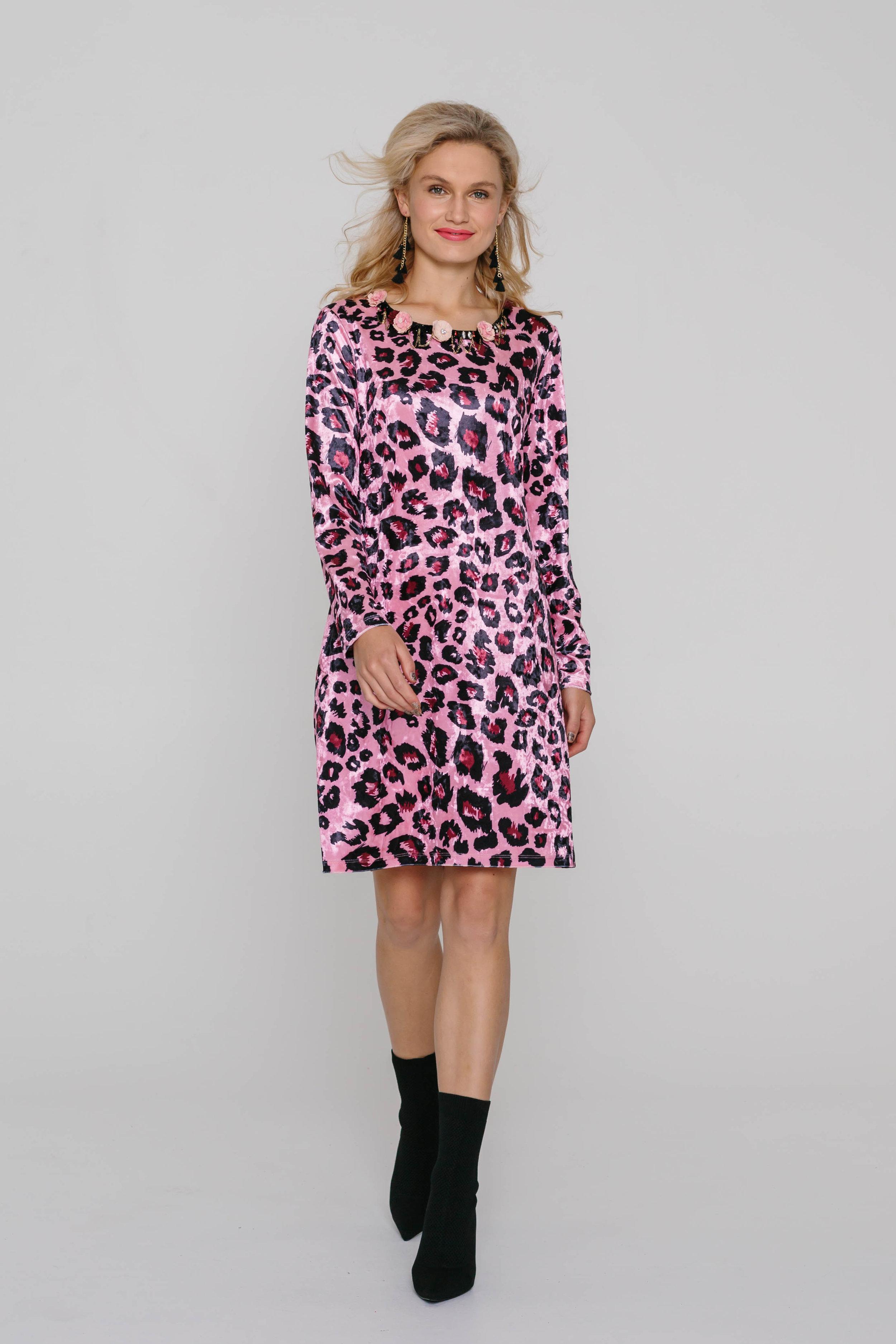 5979WA Trimmed Blondie Dress Pink Skin