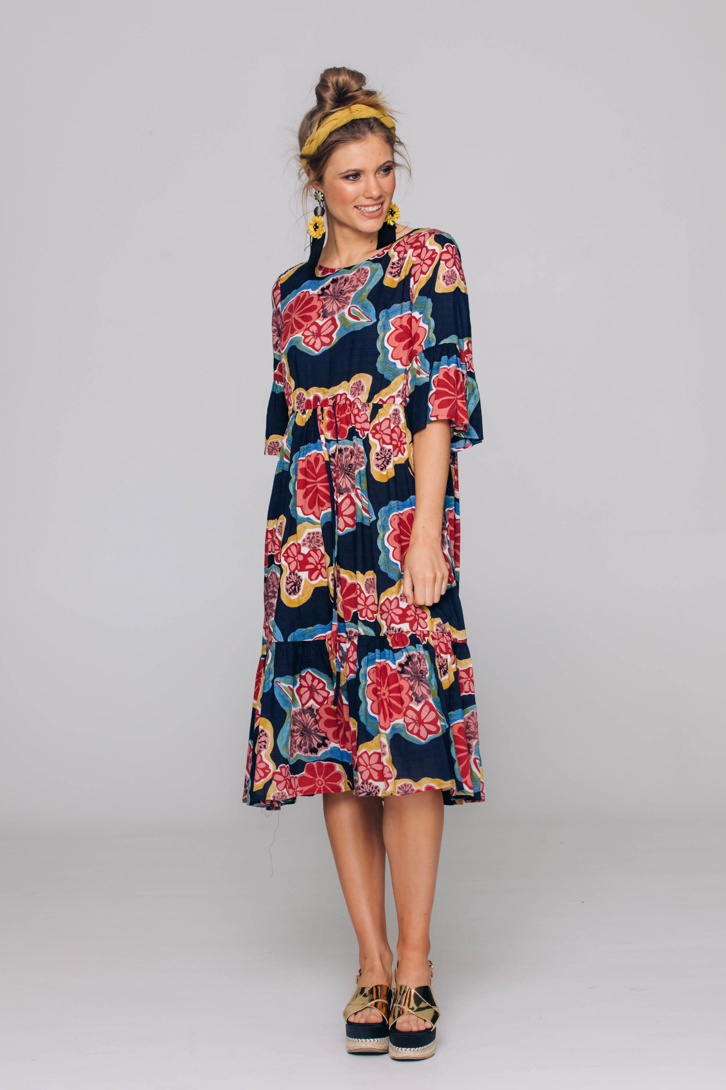 6213T Palm Dress, Austin Blue