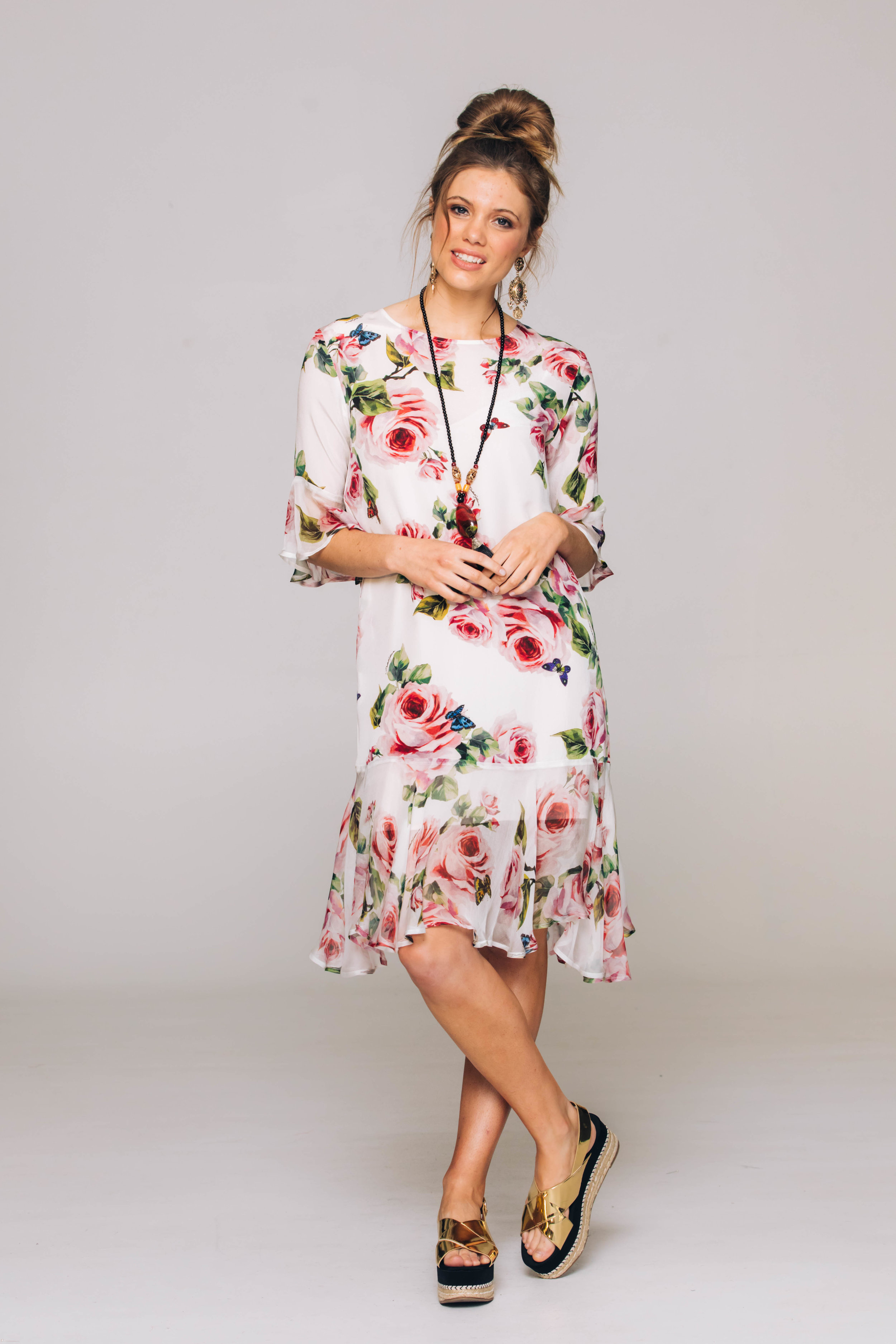 6244T Sweet Pea Dress, Kiss From A Rose Ivory