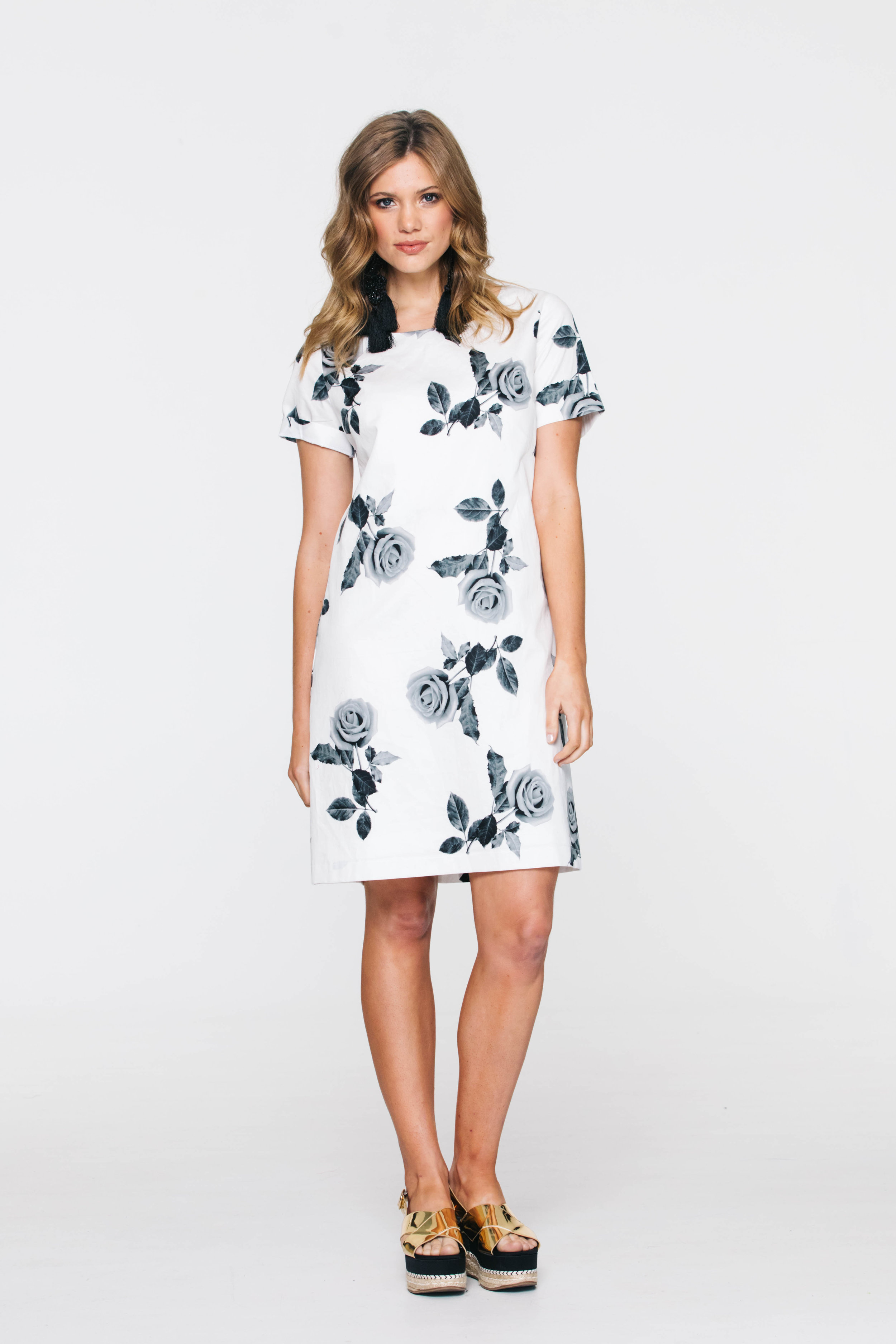 5736V Liberty Dress, Cotton Rose White