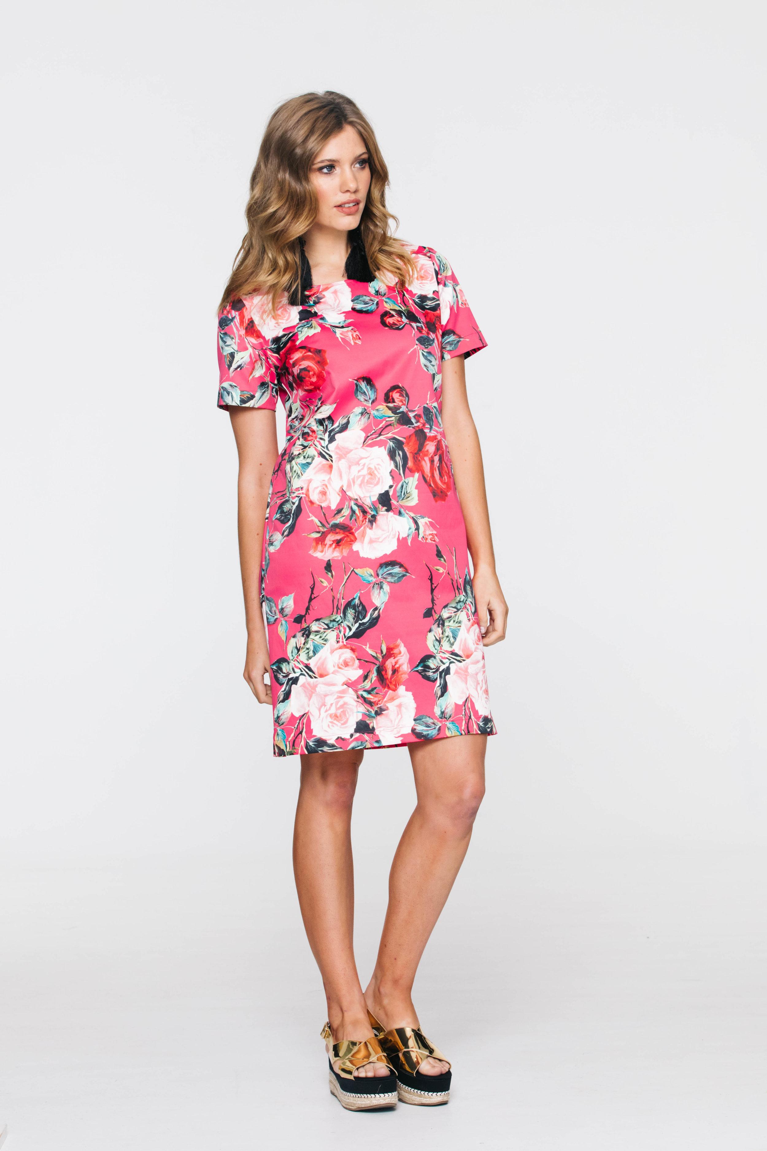 5736V Liberty Dress, Dolce Rose Hot Pink