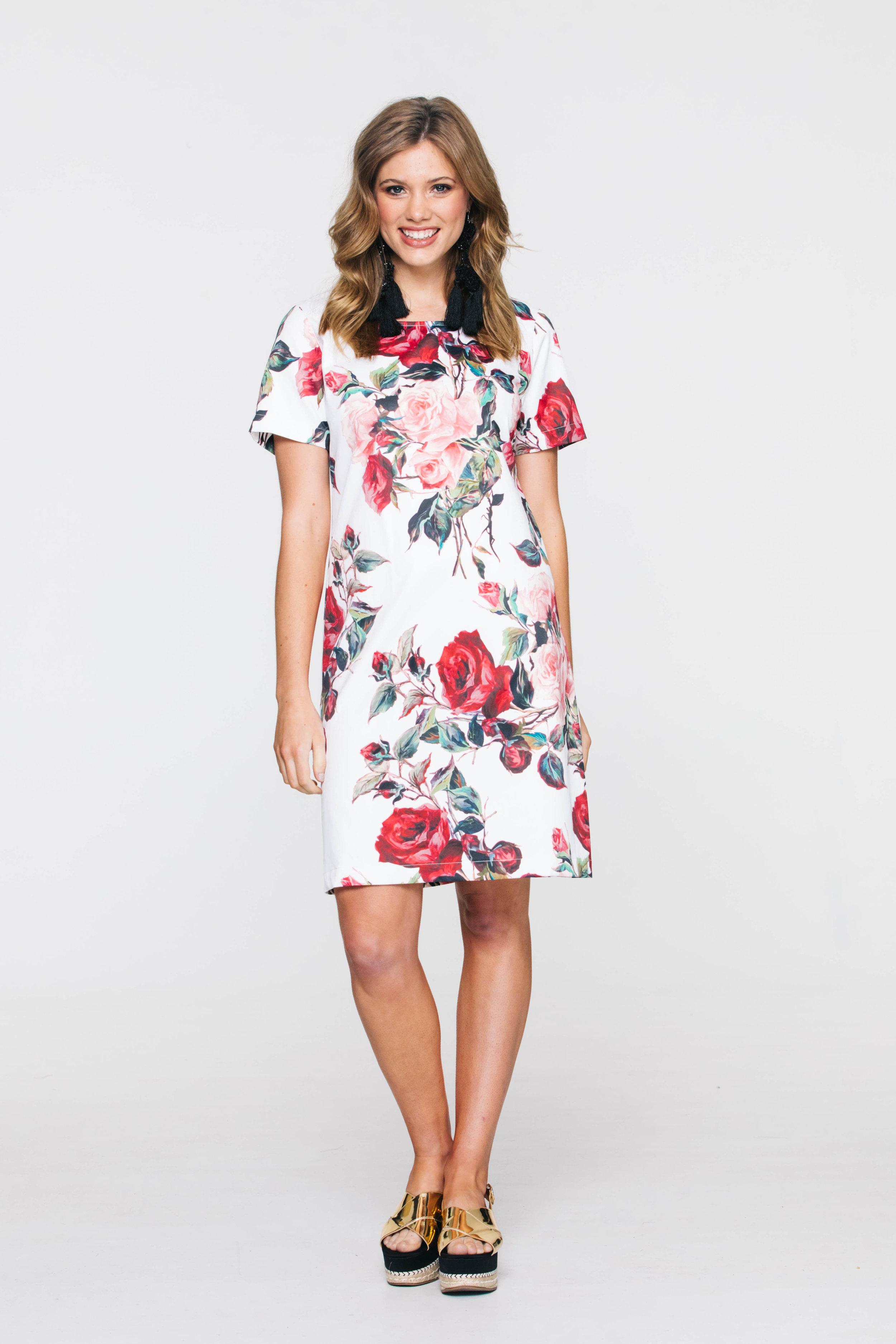 5736V Liberty Dress, Dolce Rose White