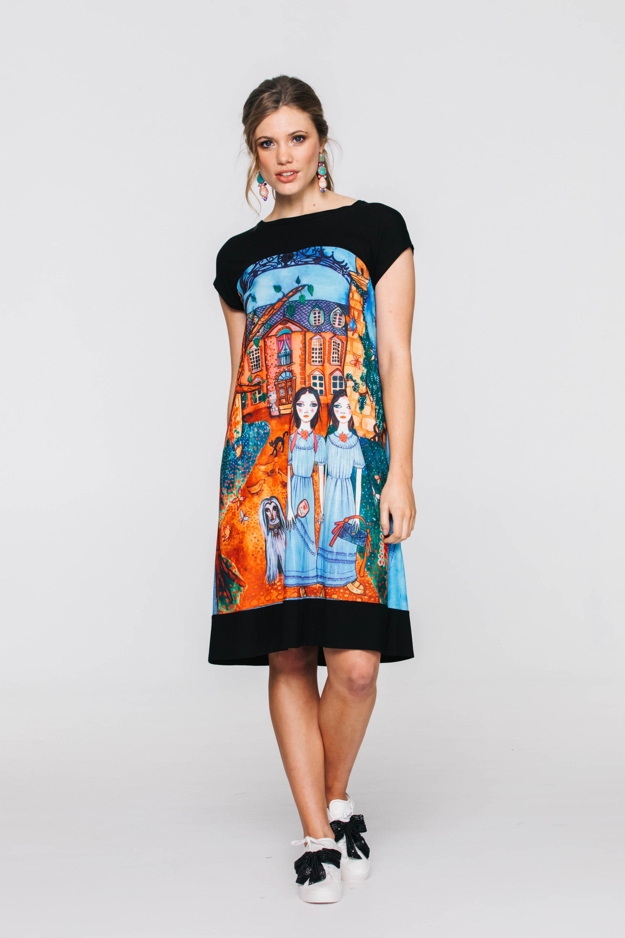 5857V Patch Me Up Dress, The Blues
