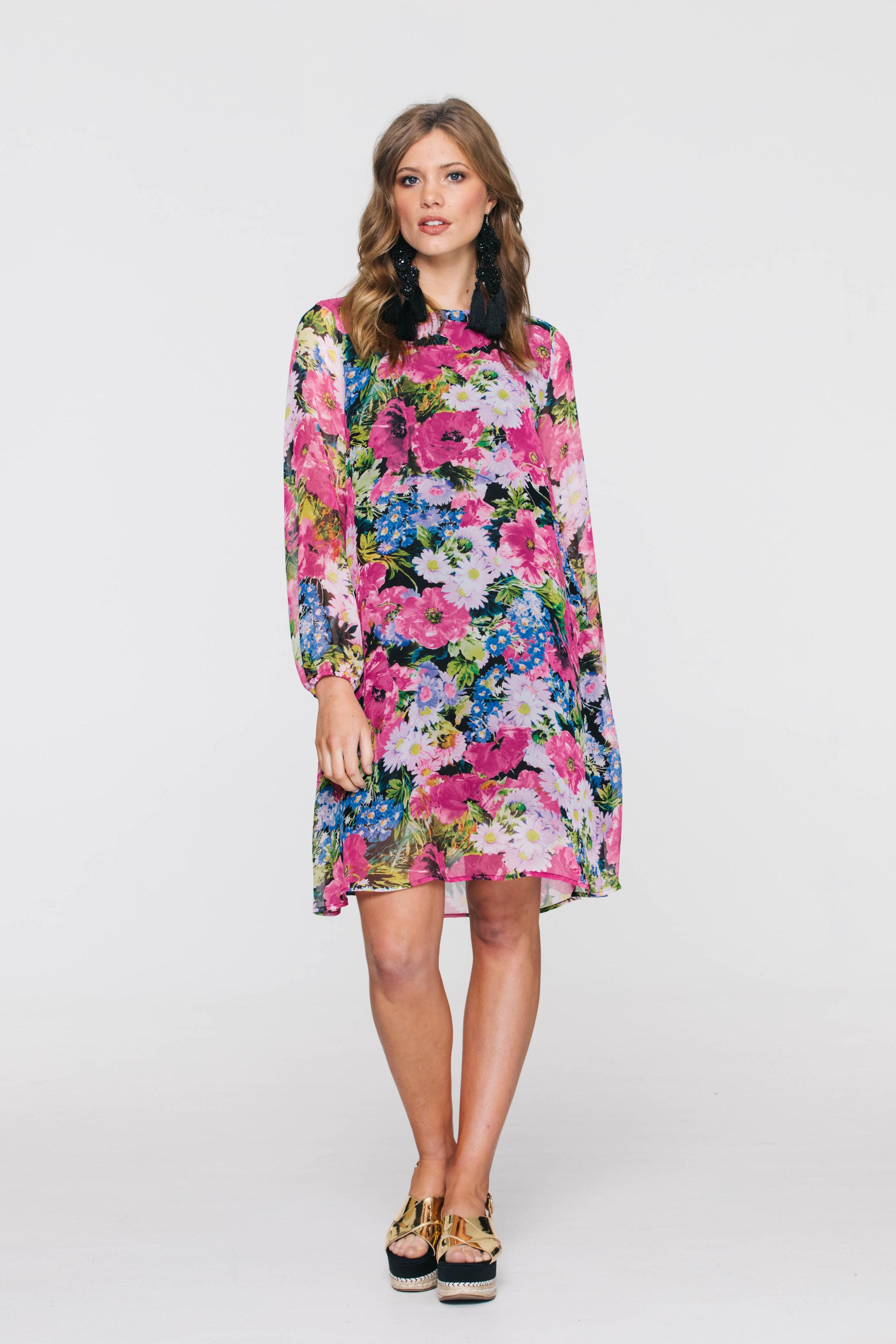 5906V Shilo Dress, Boho Pink