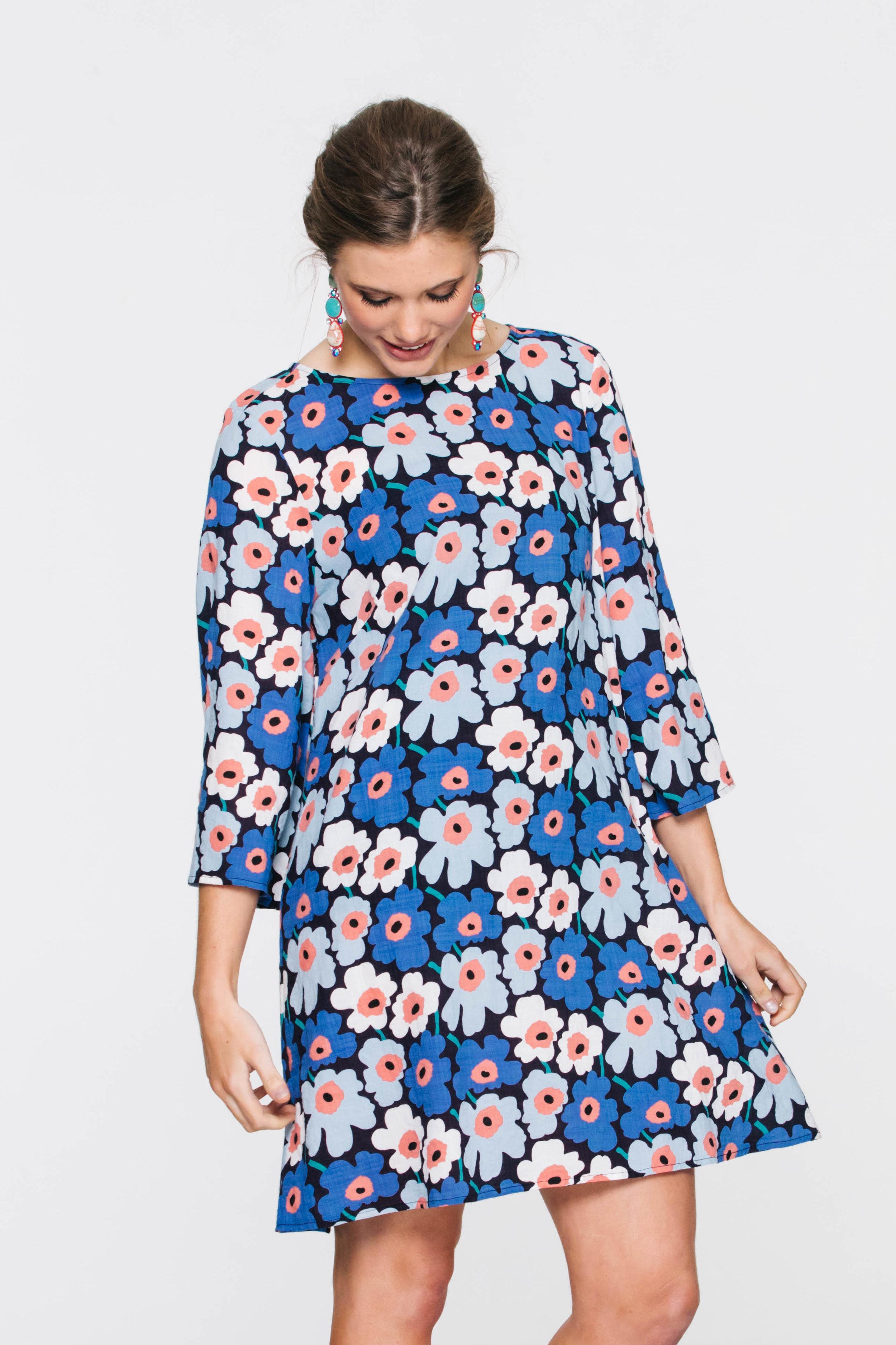 6010V Mirage Dress, Meko Blue