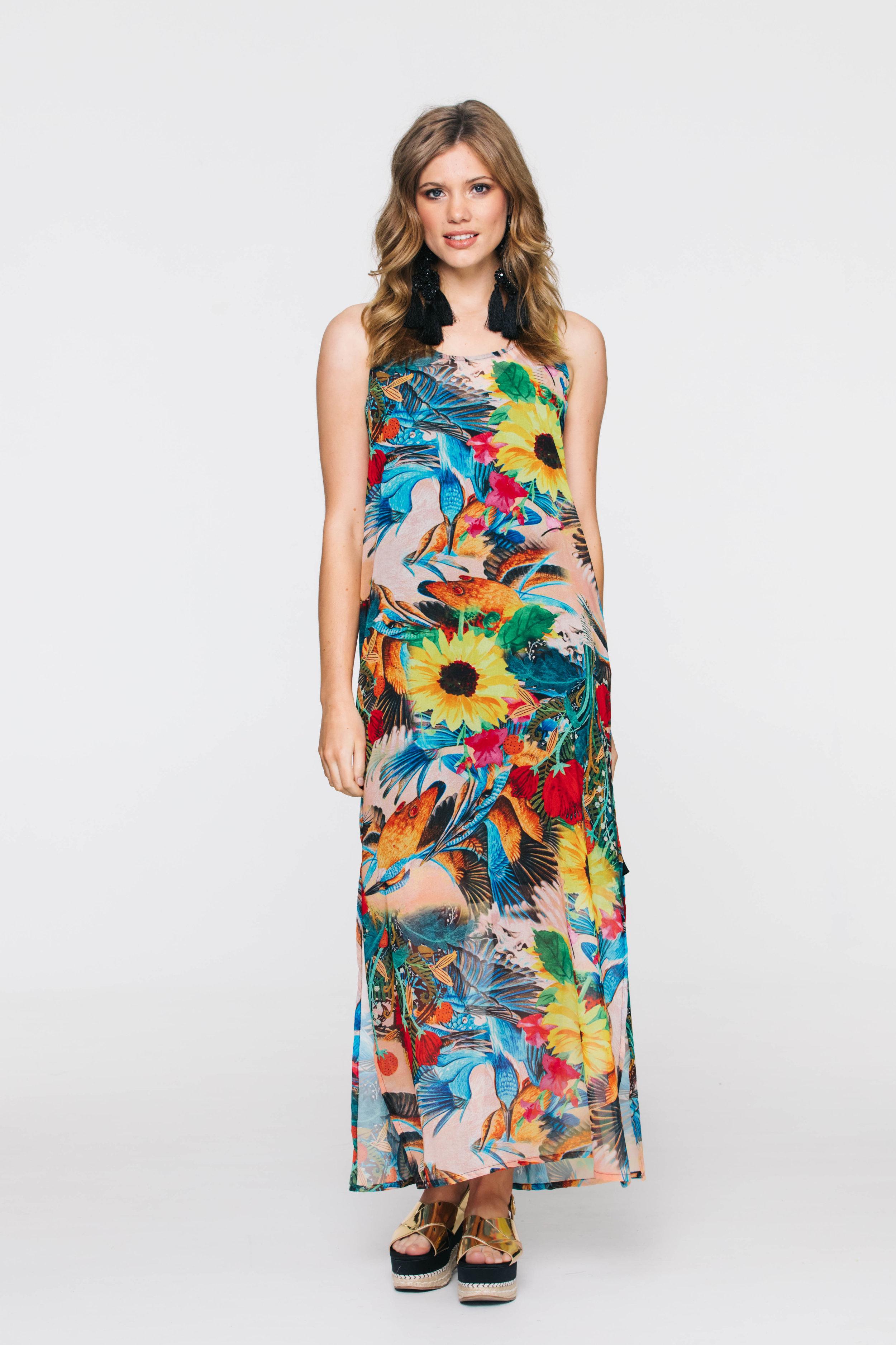 6021V Sunset dress, Kiss Me